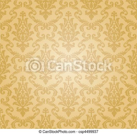seamless damask pattern (vector) - csp4499937