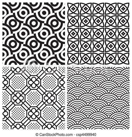Clipart vecteur de motifs ensemble seamless vector for Motif dessin