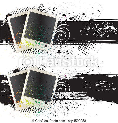 vector illustration of photo frames - csp4500358