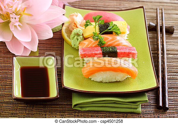 Japan traditional food sushi - csp4501258