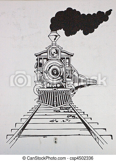 train, dessin - csp4502336
