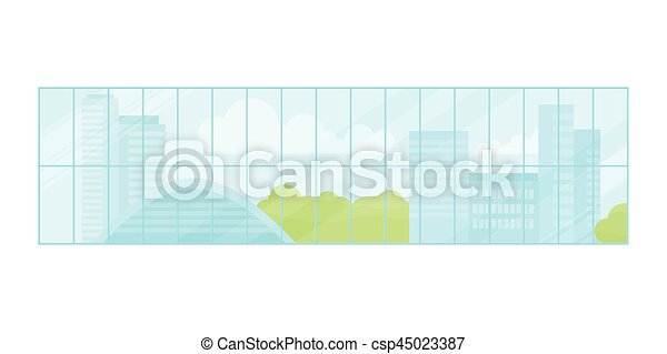 Window Urban Landscape - csp45023387