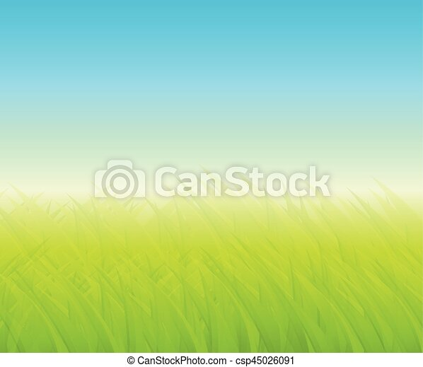 Green background with grass - csp45026091