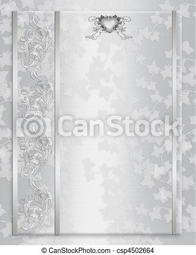 Wedding invitation elegant satin - csp4502664