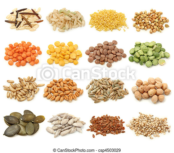 Cereal,grain and seeds collection - csp4503029