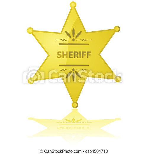 Sheriff star - csp4504718