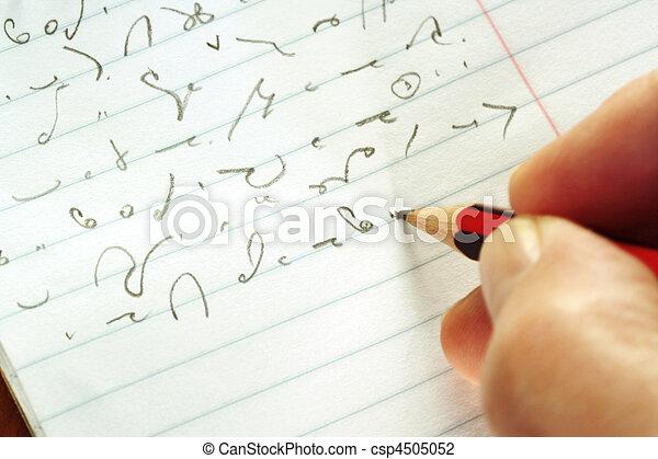 tagande, stenografi - csp4505052
