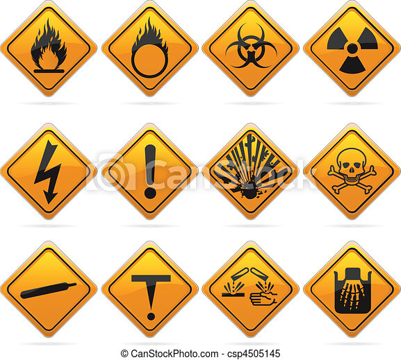 Glossy Diamond Hazard Signs - csp4505145