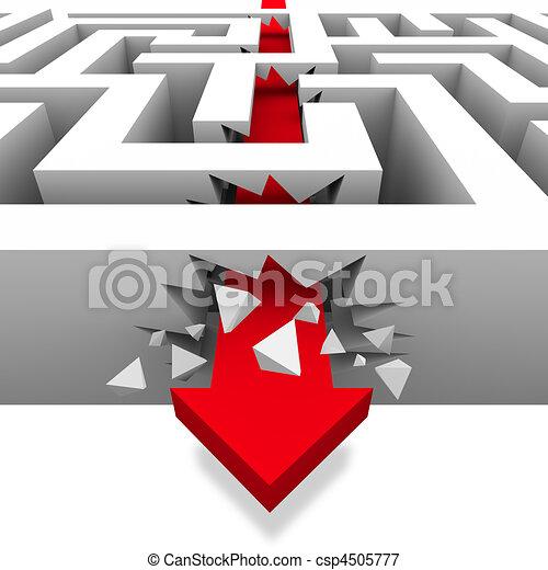 Breaking Through the Maze to Freedom - csp4505777