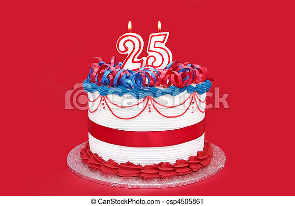Twenty-Fifth Celebration Cake - csp4505861
