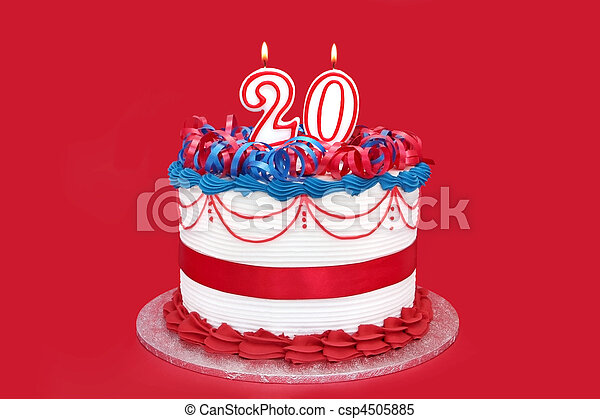 Number 20 Celebration Cake - csp4505885