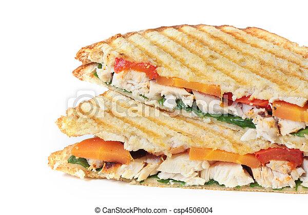Chicken and Veggie Sandwich - csp4506004