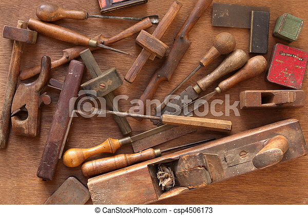 Vintage Woodworking Tools - csp4506173