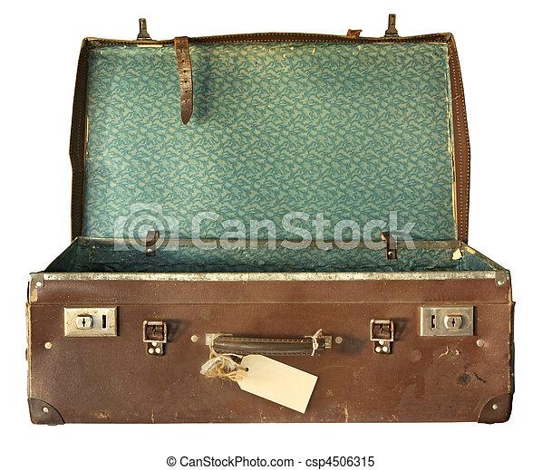 Vintage Suitcase, Open - csp4506315
