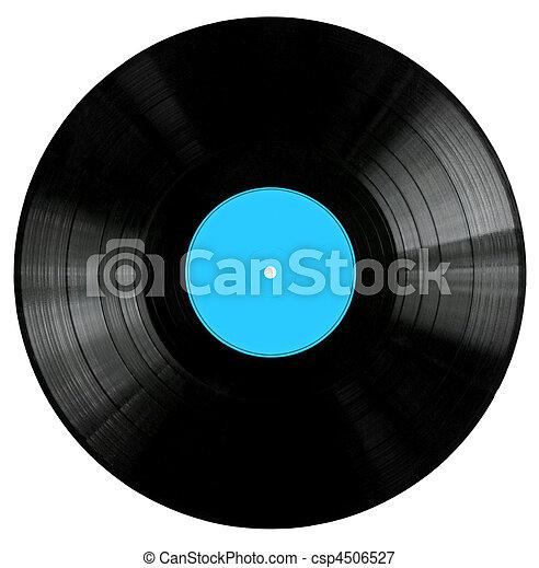 Vinyl Record with BlueLabel - csp4506527