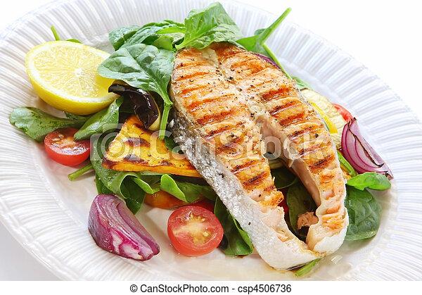 Salmon Dinner - csp4506736