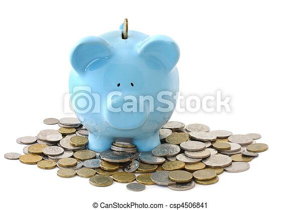 Overloaded Piggy Bank - csp4506841