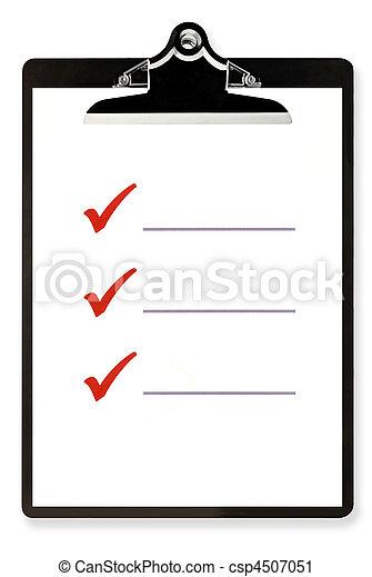Checklist on Clipboard - csp4507051