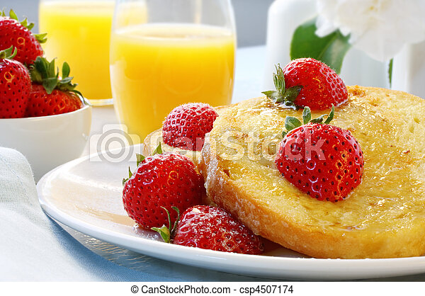 French Toast with Strawberries - csp4507174