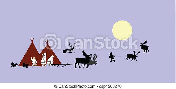 vector drawing reindeer breeder - csp4508270