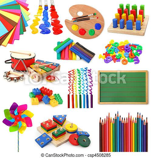 Sammlung, Spielzeuge - csp4508285