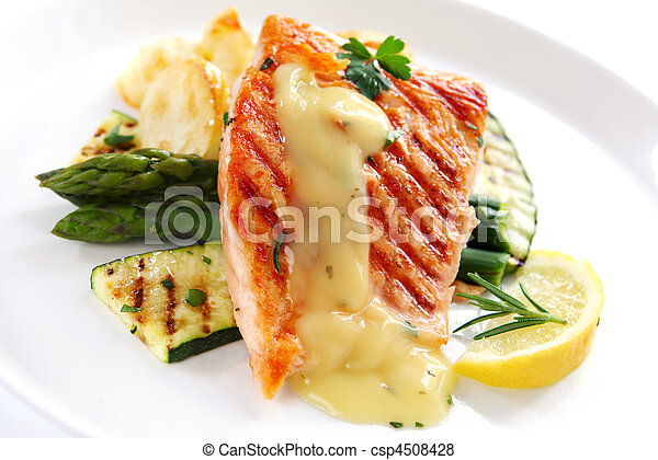 Salmon Dinner - csp4508428