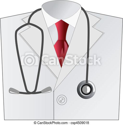 medical doctor white coat - csp4509018