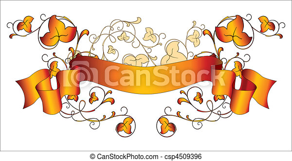 ribbon with creeping plant - csp4509396