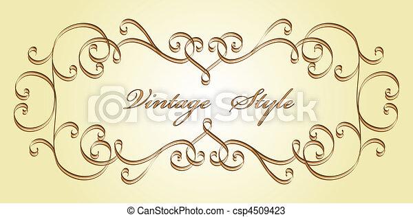classical vignette - csp4509423