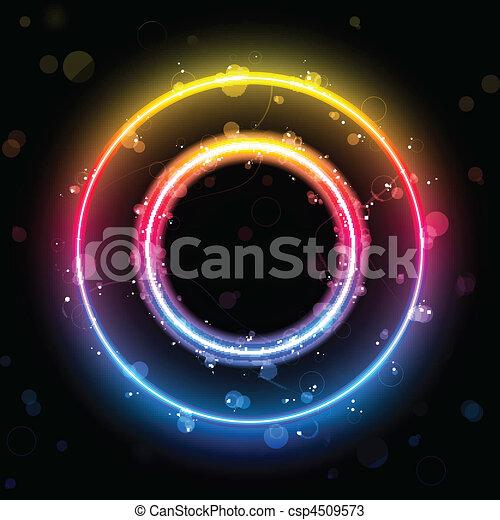 Alphabet Rainbow Lights in Circle Button - csp4509573