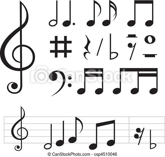 music notes basic - csp4510046
