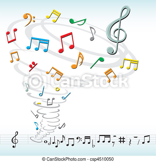music notes tornado - csp4510050