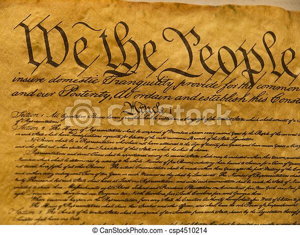 USA Constitution Parchment - csp4510214