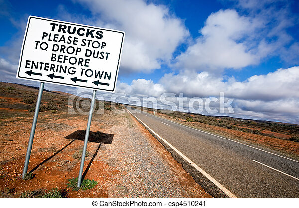 Outback Road Sign - csp4510241