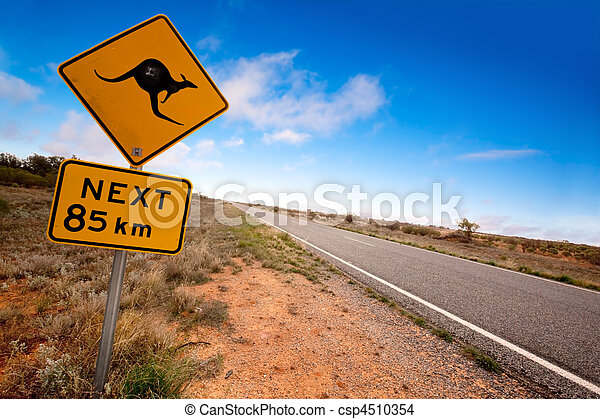 Outback Kangaroo Sign - csp4510354