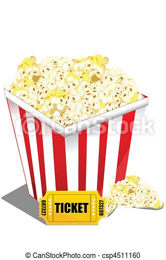 pop corn with ticket - csp4511160