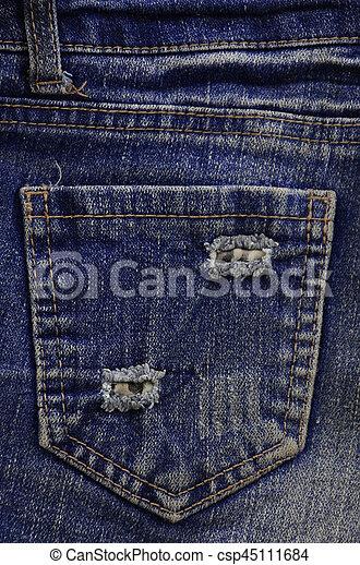 The texture of denim pocket - csp45111684
