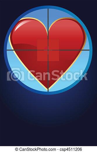 Hearth on cross hair - csp4511206