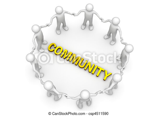 COMMUNITY word in circle of characters - csp4511590