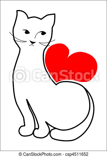 cat is waiting for your love - csp4511652