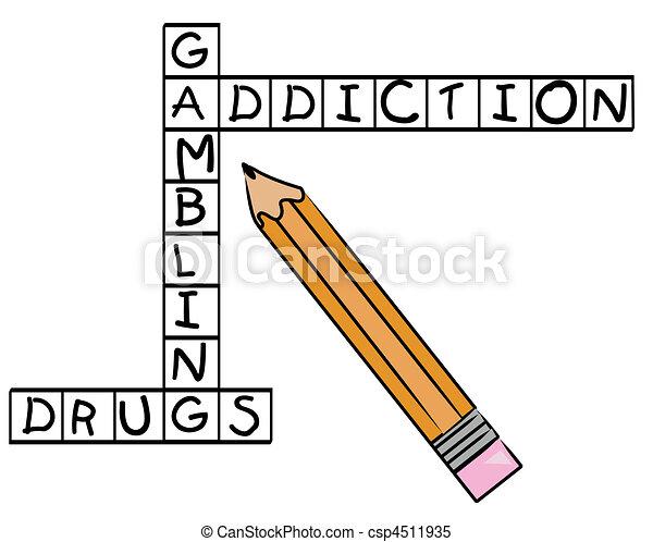 gambling addiction and drugs  - csp4511935