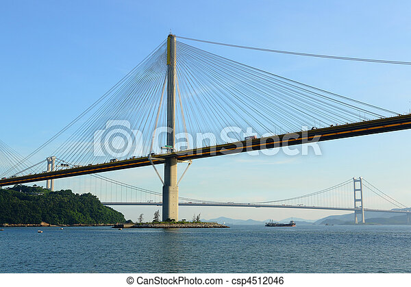 Ting Kau Bridge in Hong Kong - csp4512046