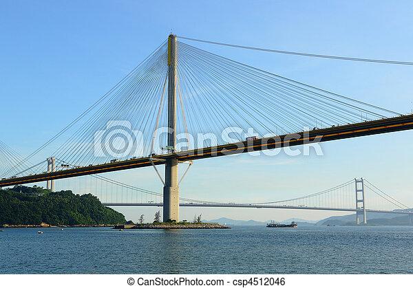 Ting Kau Bridge in Hong Kong - csp4512046