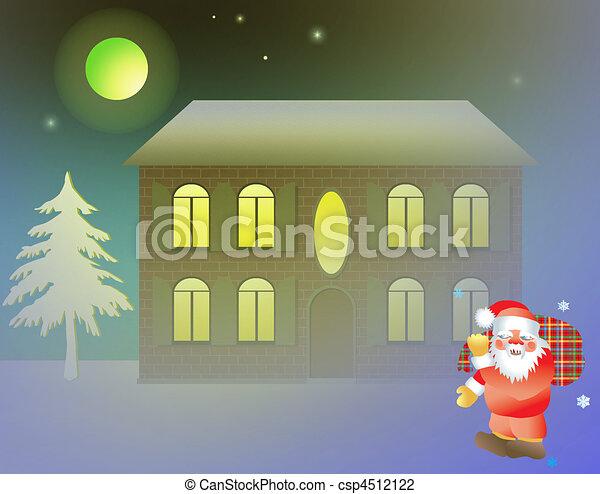 xmas residential building - csp4512122
