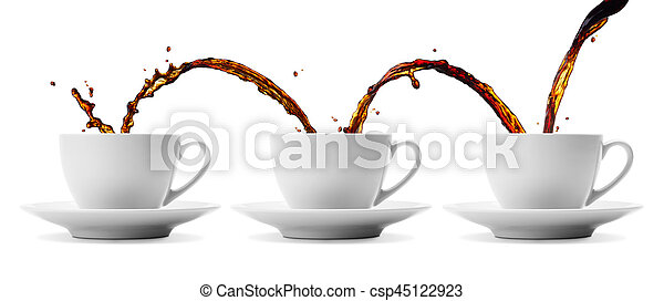 coffee flowing - csp45122923