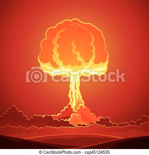 Nuclear Bomb Explosion Template - csp45124535