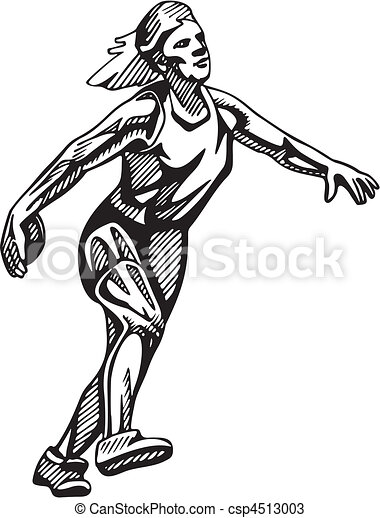 Vectors of Track & Field csp4513003 - Search Clip Art ...