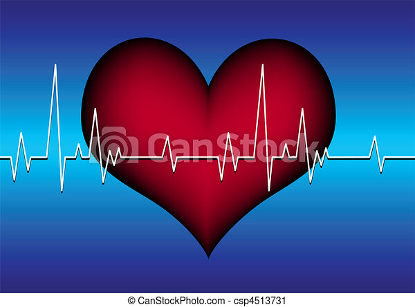 heart with cardiogram - csp4513731