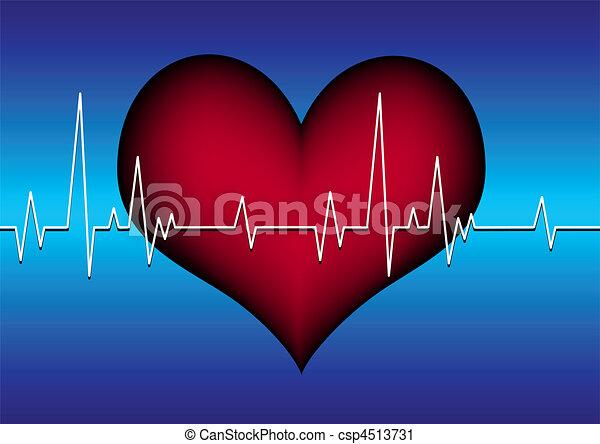 heart with cardiogram - csp4513731