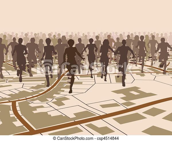 Town run - csp4514844